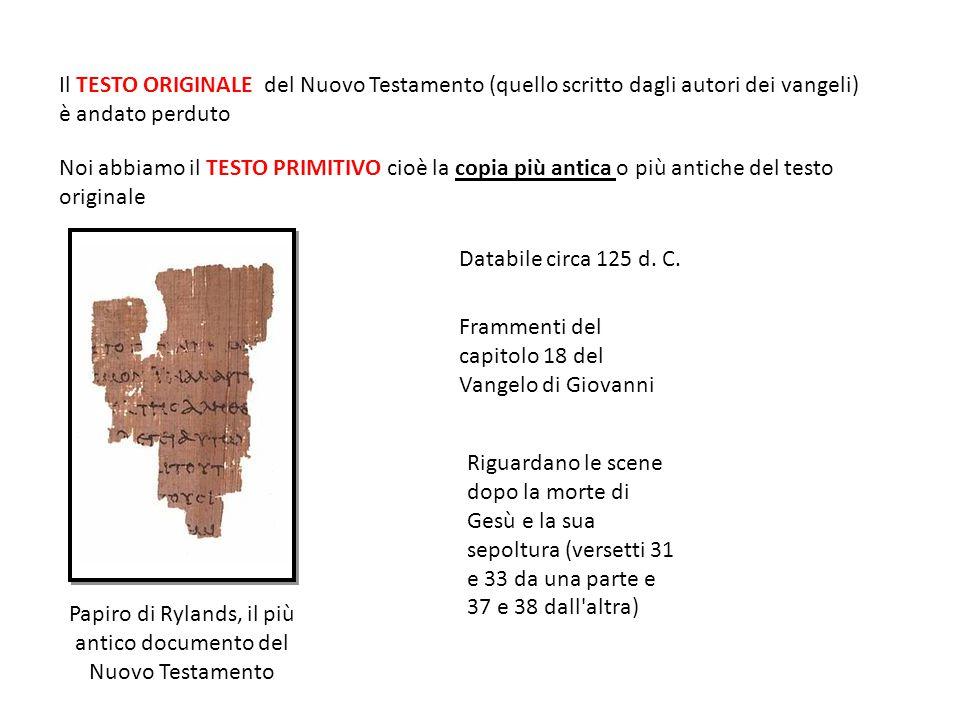 Papiro di Rylands, il più antico documento del Nuovo Testamento