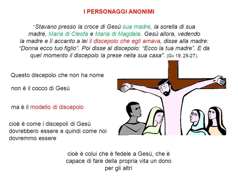 madre, Maria di Cleofa e Maria di Magdala. Gesù allora, vedendo
