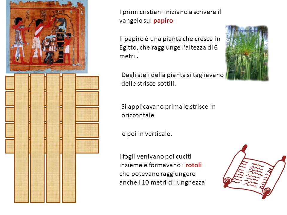 I primi cristiani iniziano a scrivere il vangelo sul papiro