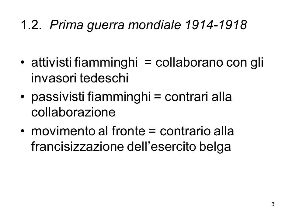 1.2. Prima guerra mondiale 1914-1918