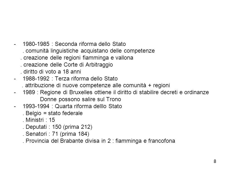 1980-1985 : Seconda riforma dello Stato