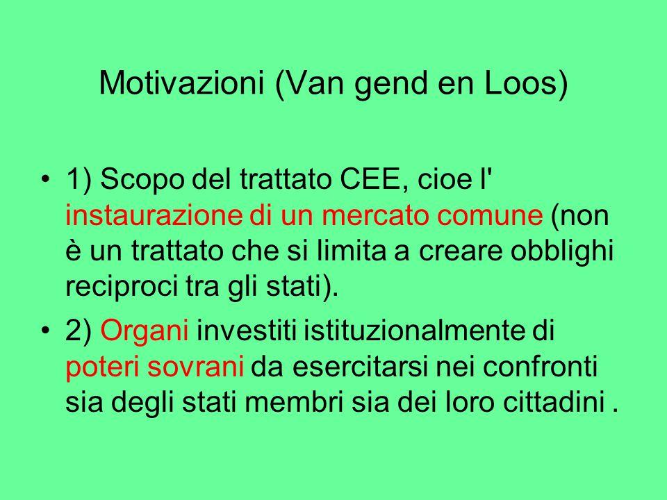 Motivazioni (Van gend en Loos)