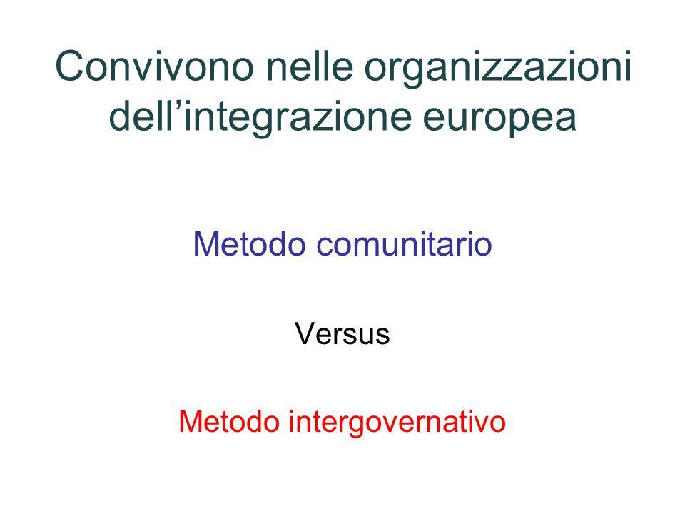 Convivono nelle organizzazioni dell'integrazione europea