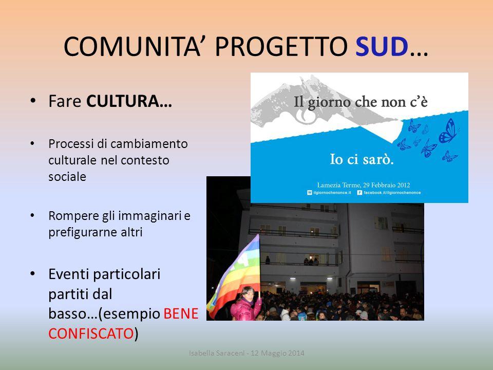 COMUNITA' PROGETTO SUD…
