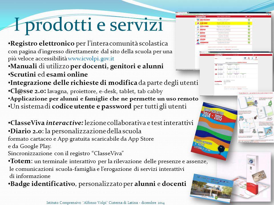 I prodotti e servizi Registro elettronico per l'intera comunità scolastica. con pagina d'ingresso direttamente dal sito della scuola per una.