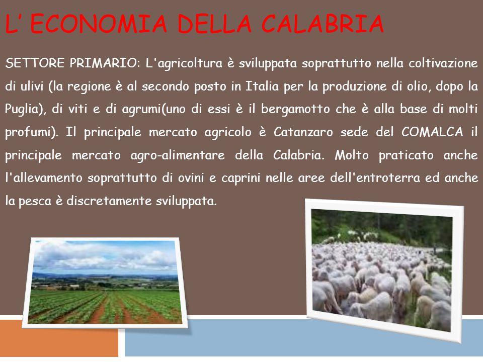 L' economia della Calabria