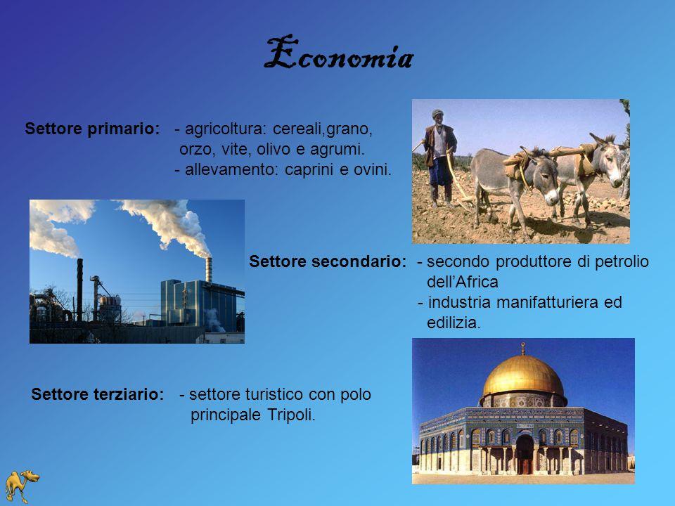 Economia Settore primario: - agricoltura: cereali,grano,