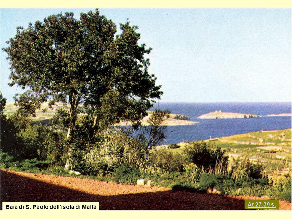At 27,39 s. Baia di S. Paolo dell'isola di Malta