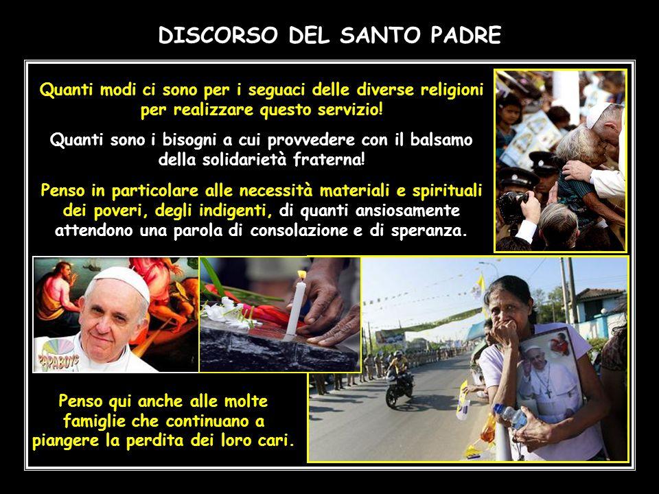 DISCORSO DEL SANTO PADRE