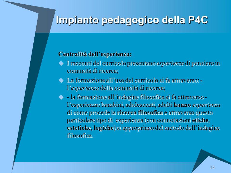 Impianto pedagogico della P4C