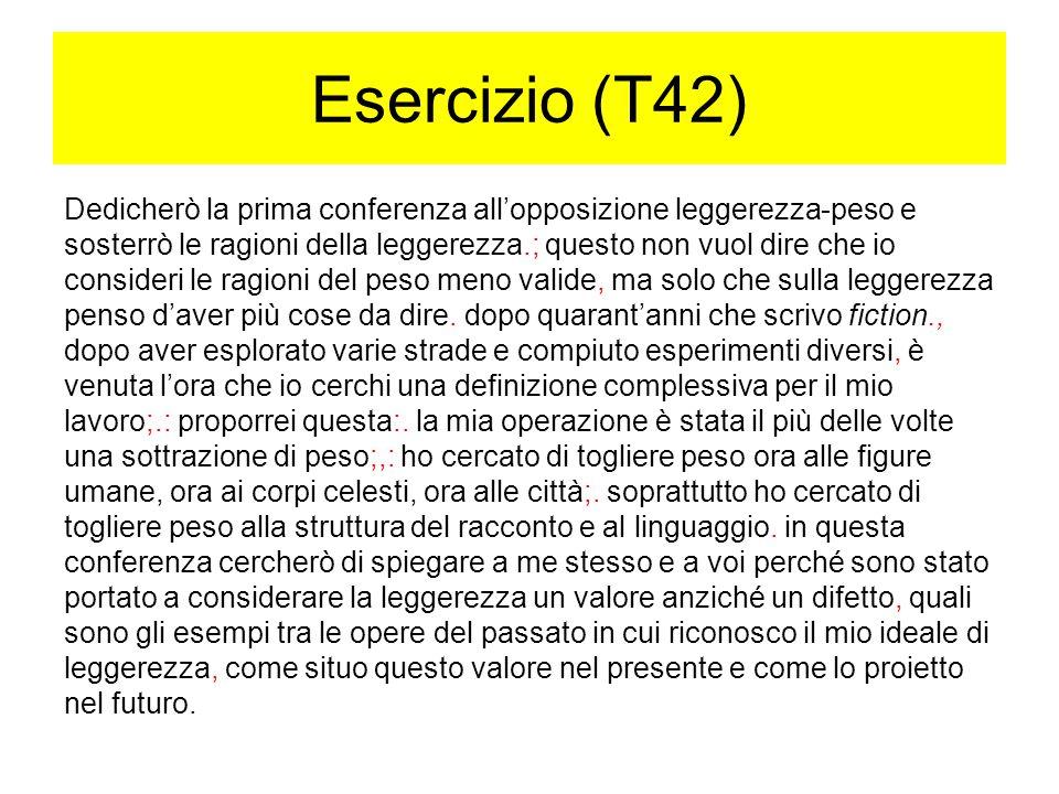 Esercizio (T42)
