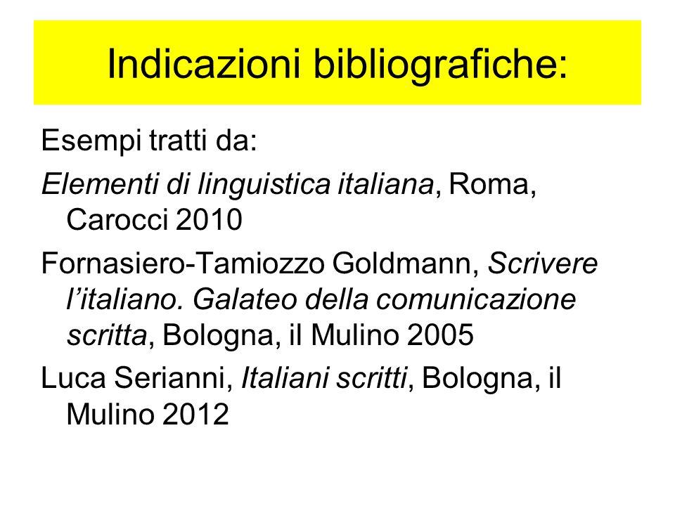 Indicazioni bibliografiche: