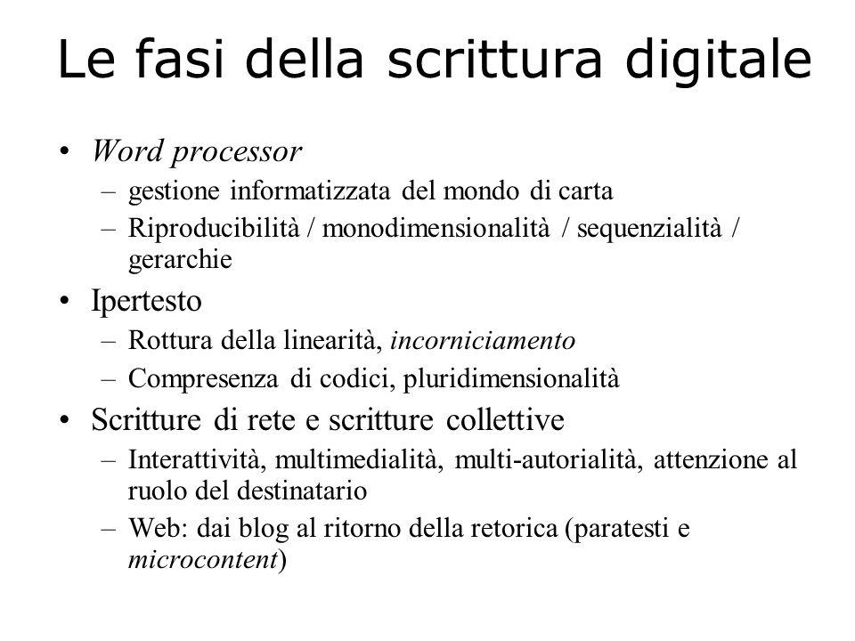 Le fasi della scrittura digitale