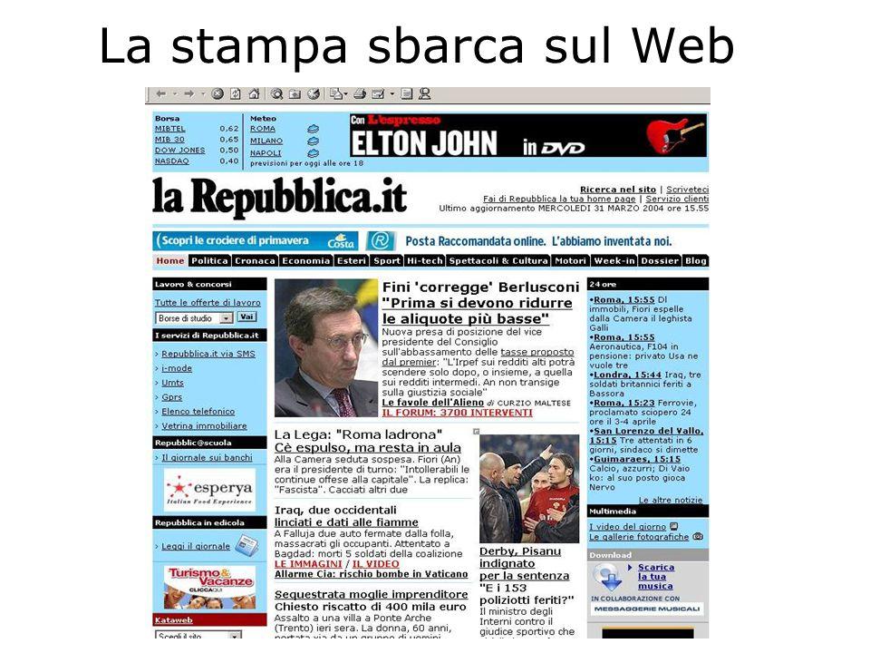 La stampa sbarca sul Web