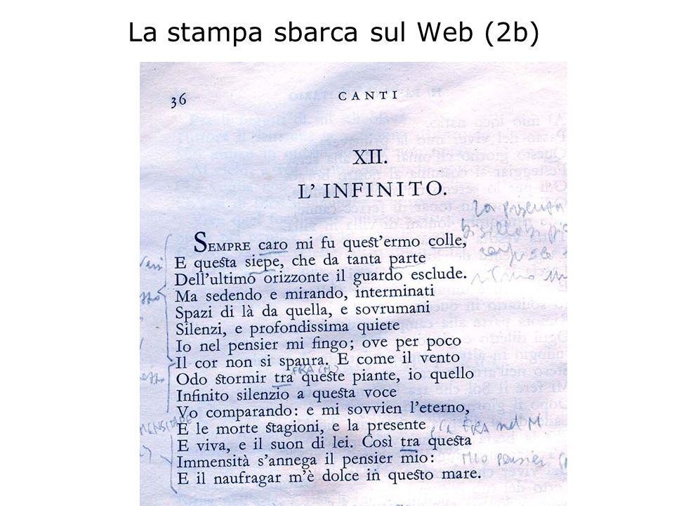 La stampa sbarca sul Web (2b)