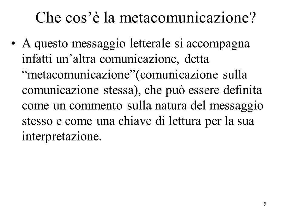 Che cos'è la metacomunicazione
