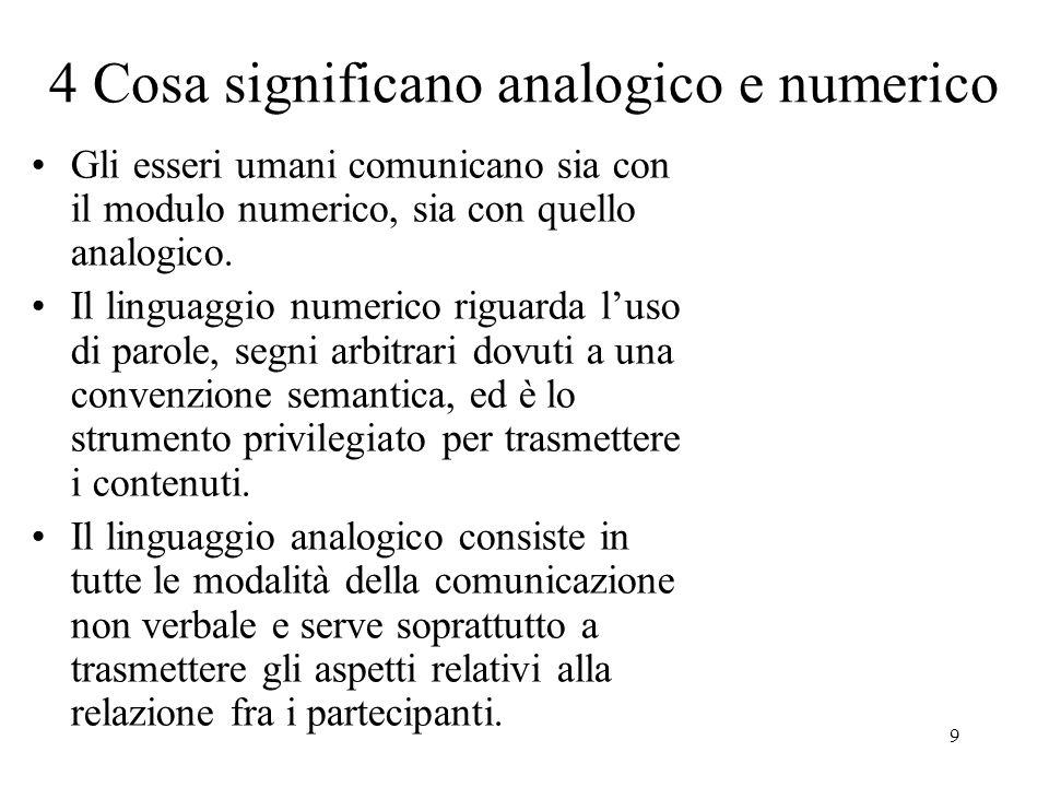4 Cosa significano analogico e numerico