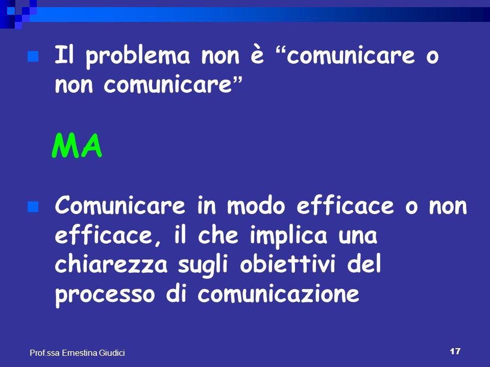 MA Il problema non è comunicare o non comunicare