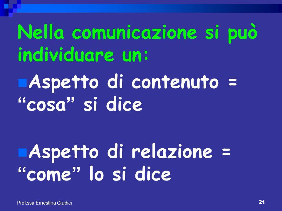 Nella comunicazione si può individuare un: