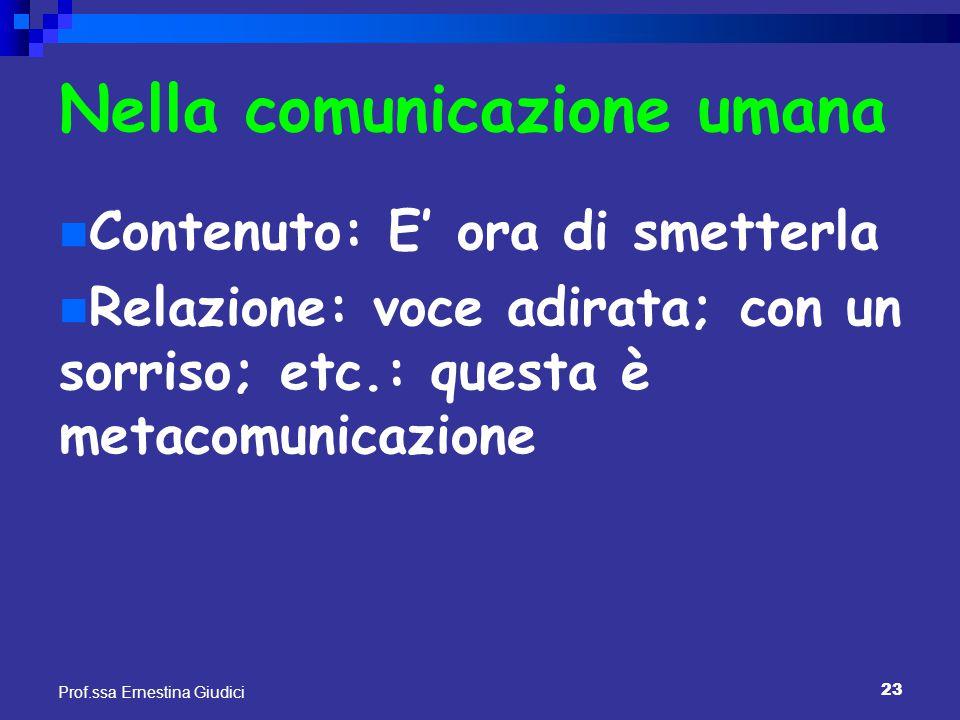 Nella comunicazione umana