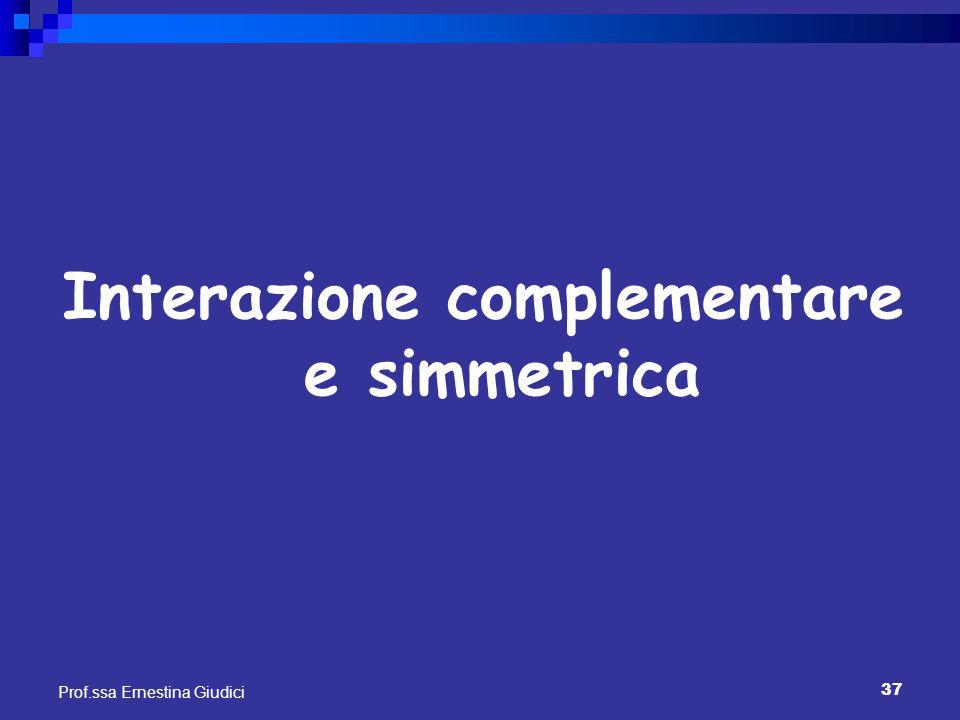 Interazione complementare e simmetrica