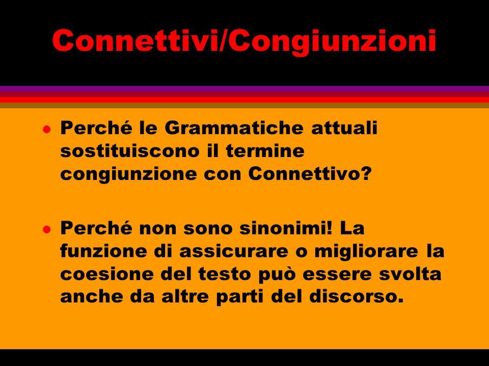 Connettivi/Congiunzioni