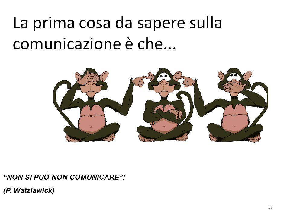 La prima cosa da sapere sulla comunicazione è che...