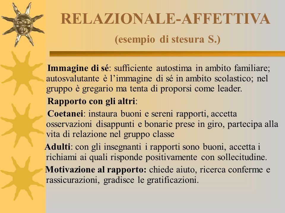 RELAZIONALE-AFFETTIVA (esempio di stesura S.)