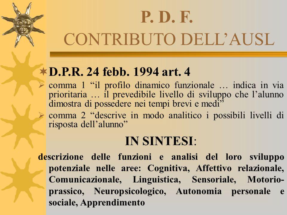 P. D. F. CONTRIBUTO DELL'AUSL
