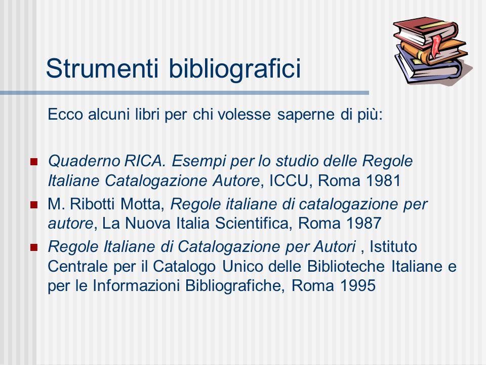 Strumenti bibliografici