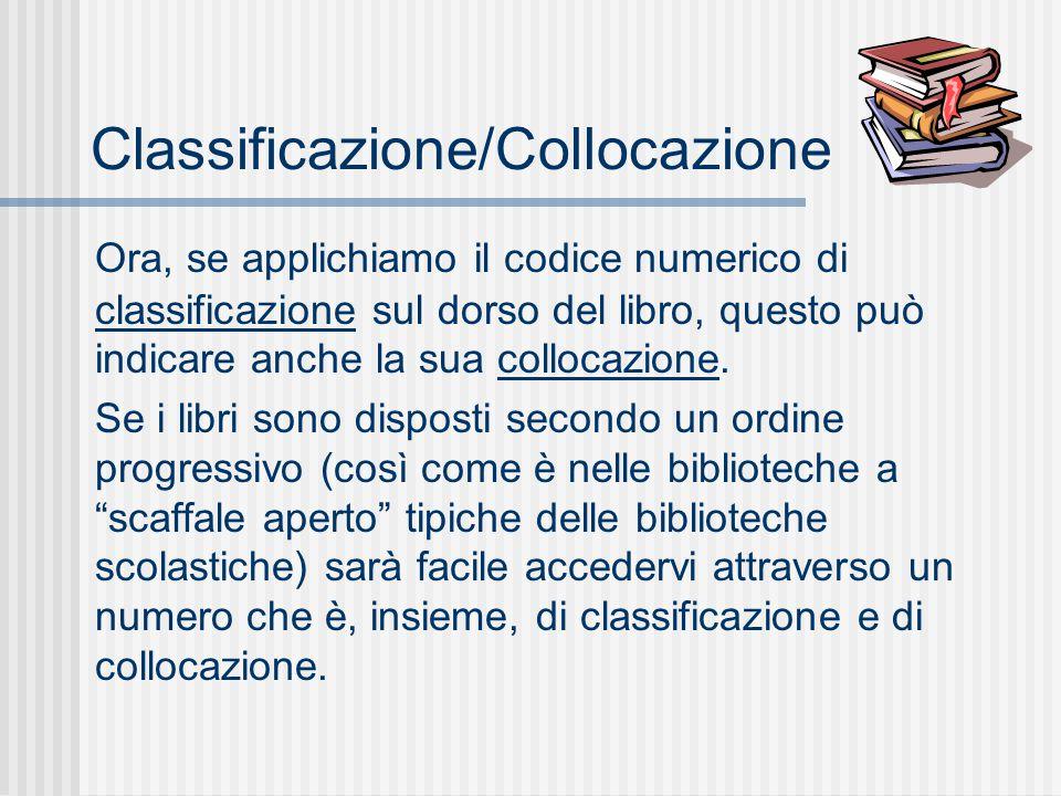 Classificazione/Collocazione