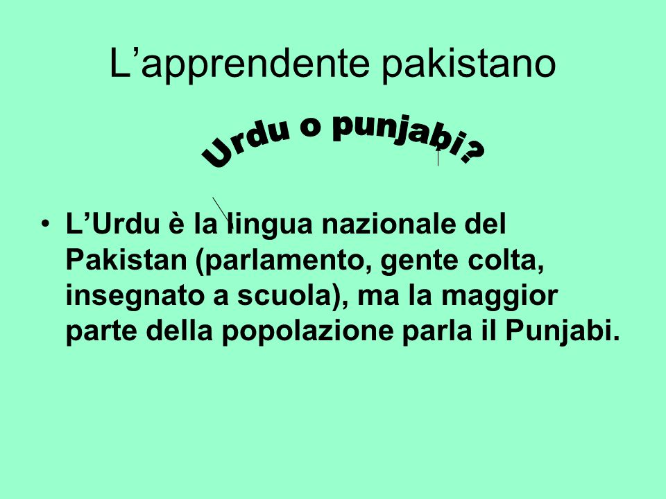 L'apprendente pakistano