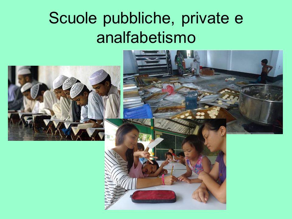 Scuole pubbliche, private e analfabetismo