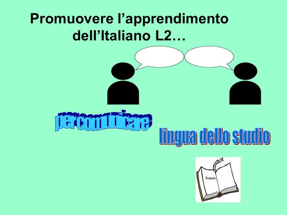 Promuovere l'apprendimento dell'Italiano L2…
