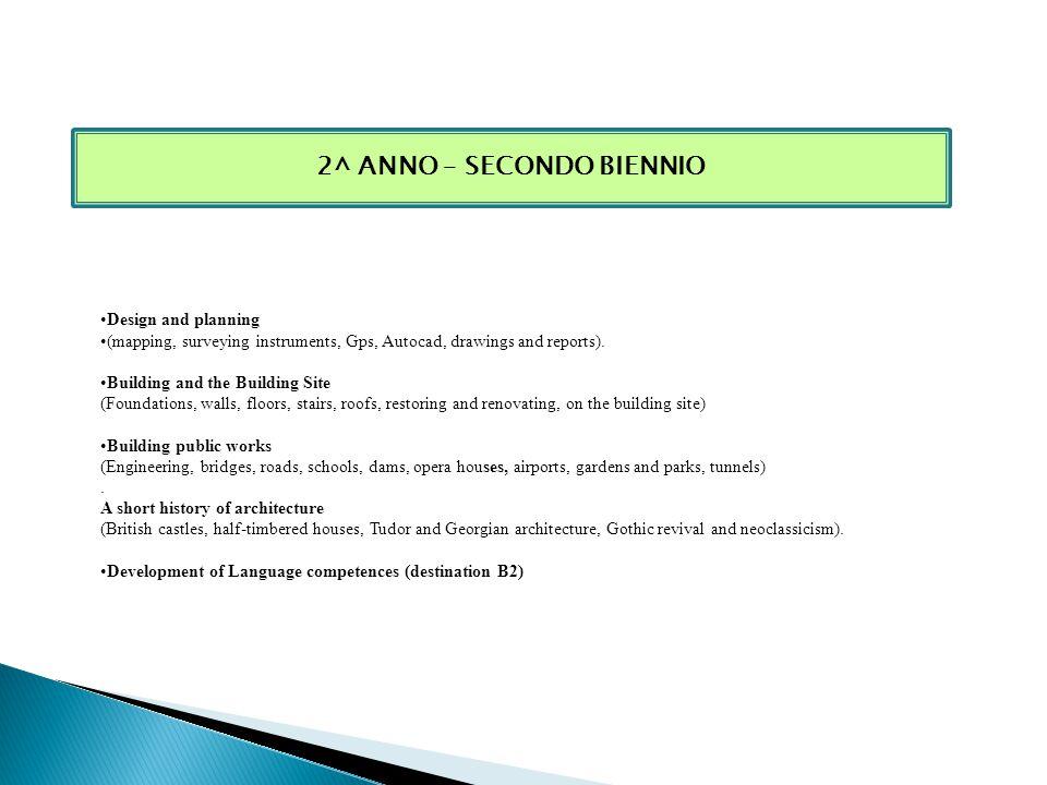 2^ ANNO – SECONDO BIENNIO
