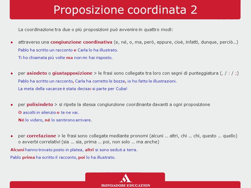 Proposizione coordinata 2