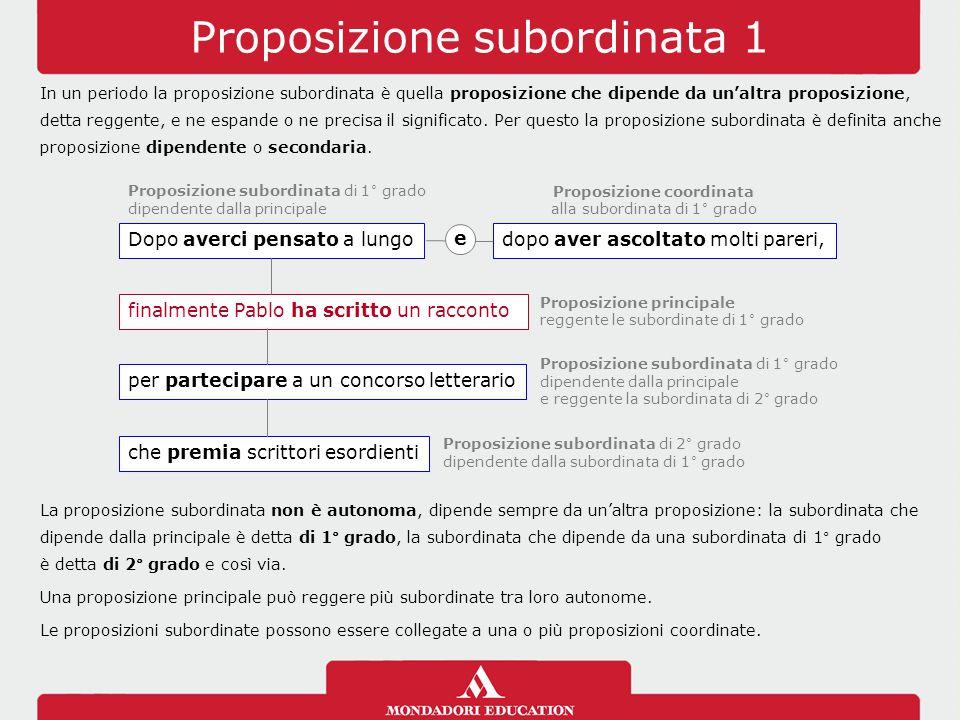 Proposizione subordinata 1