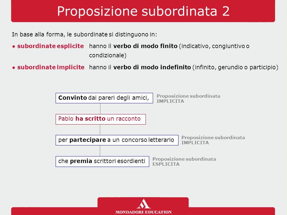 Proposizione subordinata 2