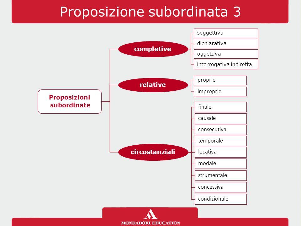 Proposizione subordinata 3