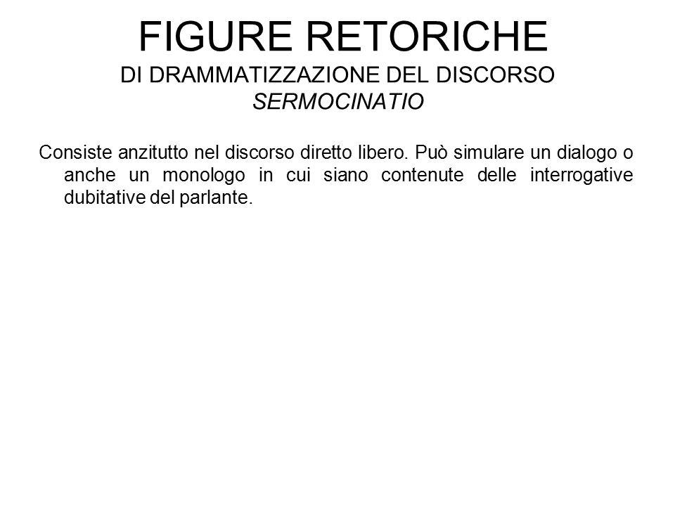 Figure retoriche di drammatizzazione del discorso sermocinatio
