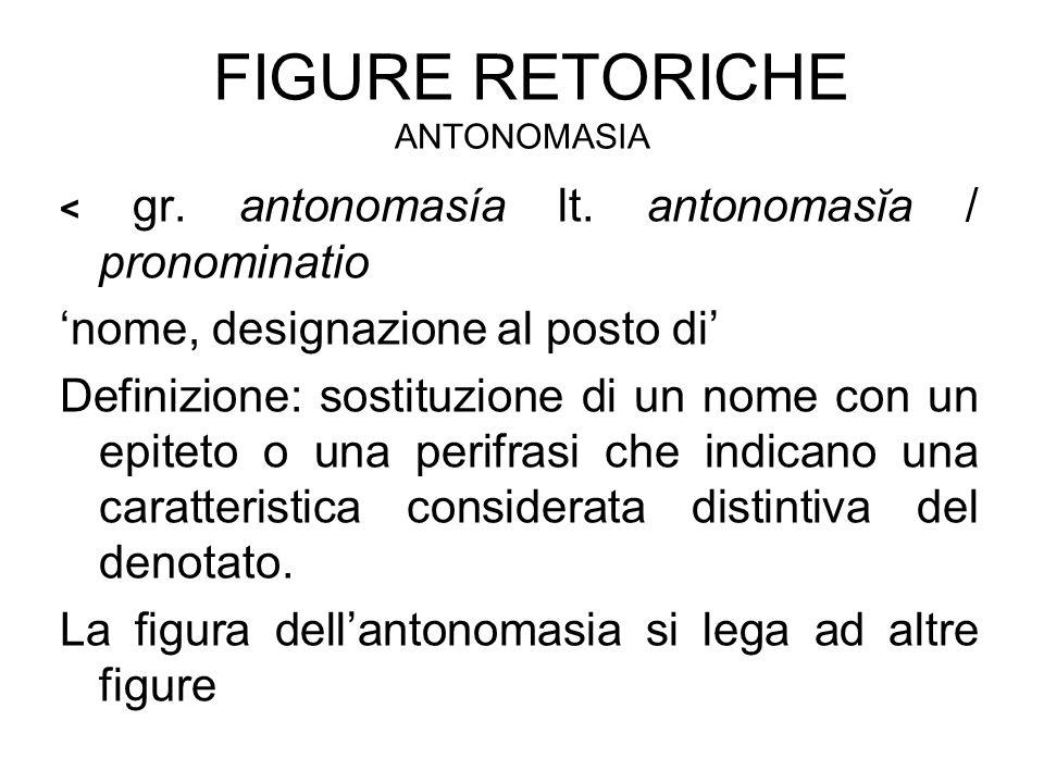 Figure retoriche antonomasia