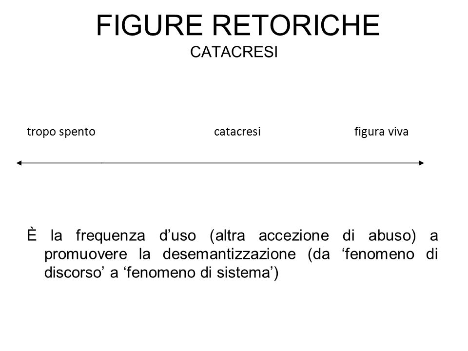 Figure retoriche catacresi
