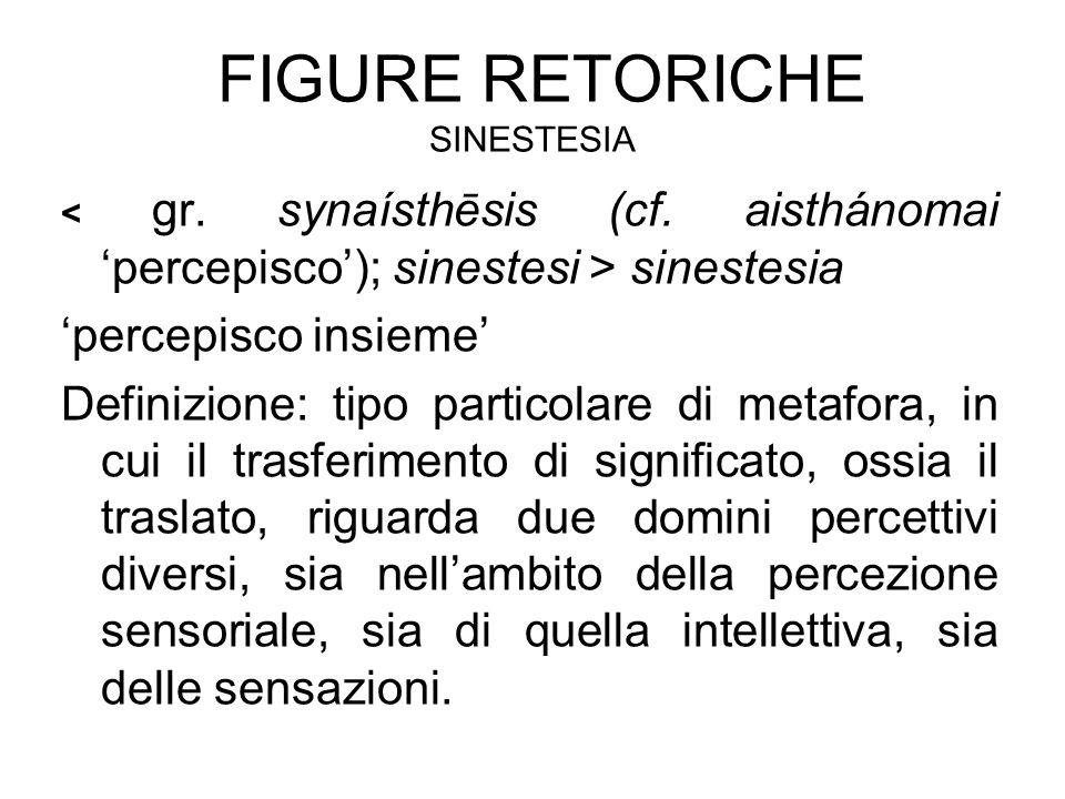 Figure retoriche sinestesia