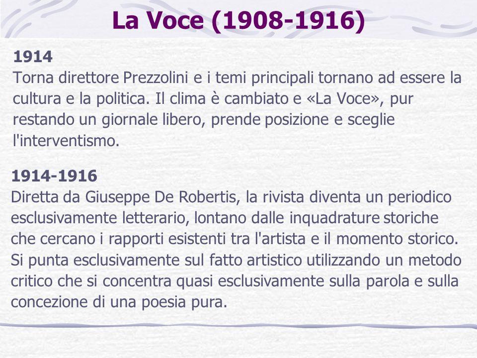 La Voce (1908-1916) 1914.