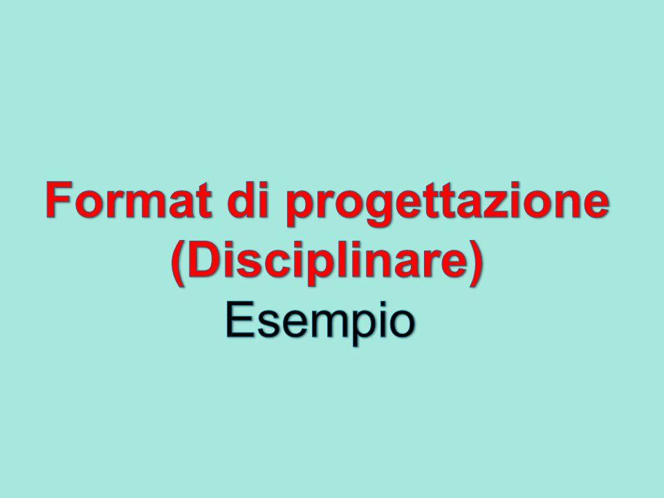 Format di progettazione