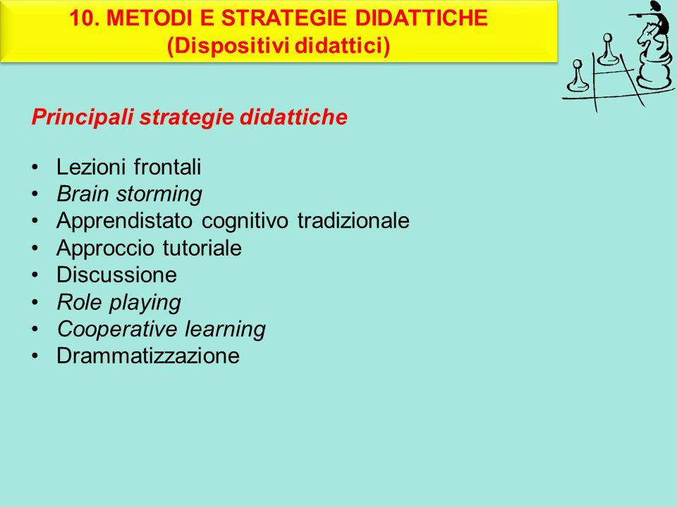 10. METODI E STRATEGIE DIDATTICHE (Dispositivi didattici)
