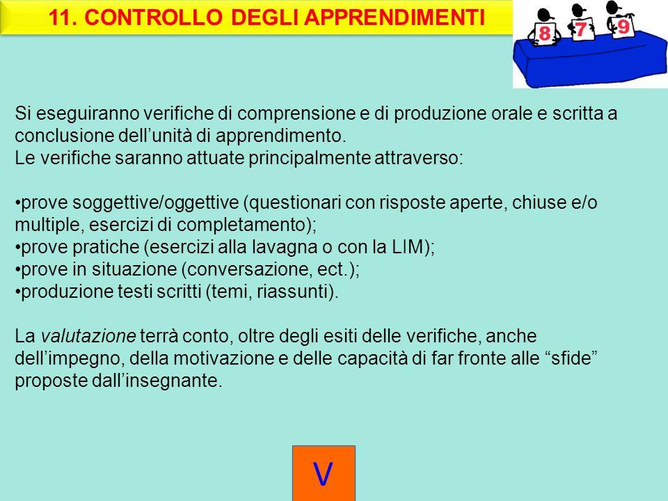 11. CONTROLLO DEGLI APPRENDIMENTI