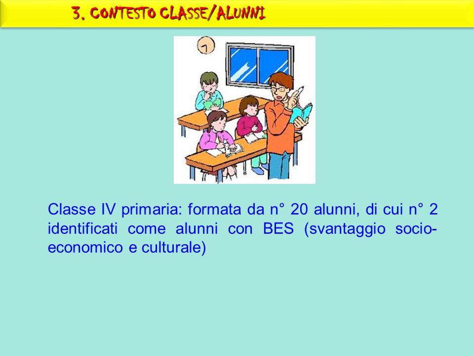 3. CONTESTO CLASSE/ALUNNI