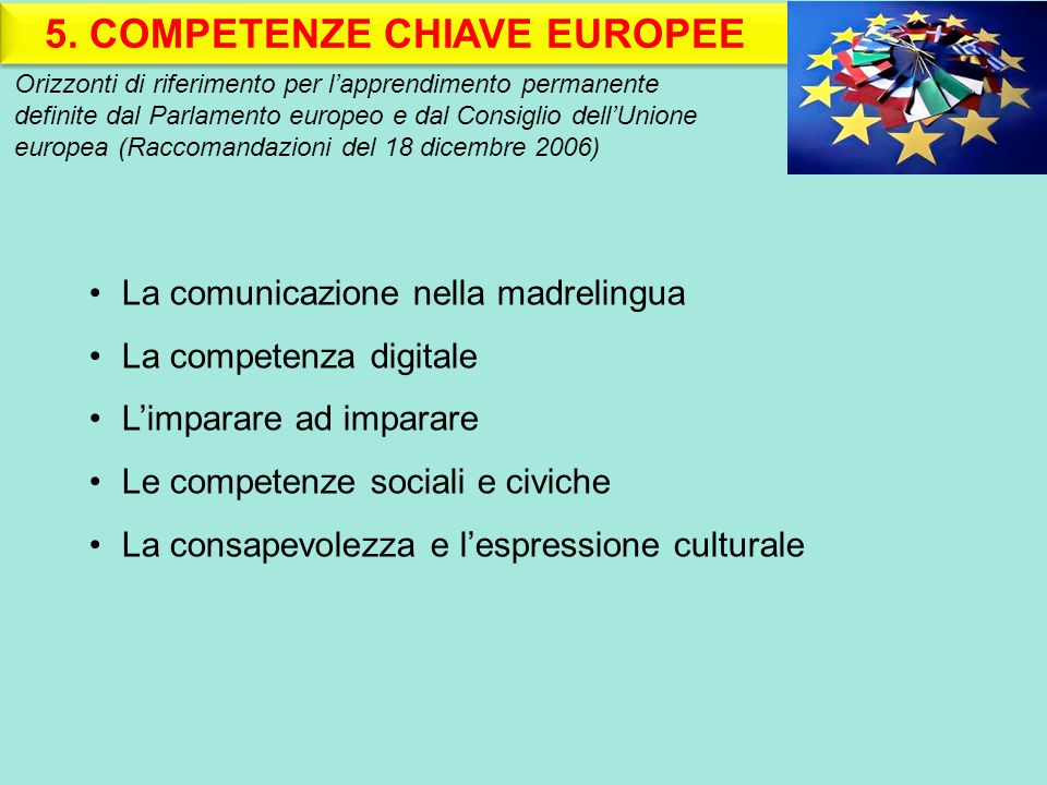 5. COMPETENZE CHIAVE EUROPEE