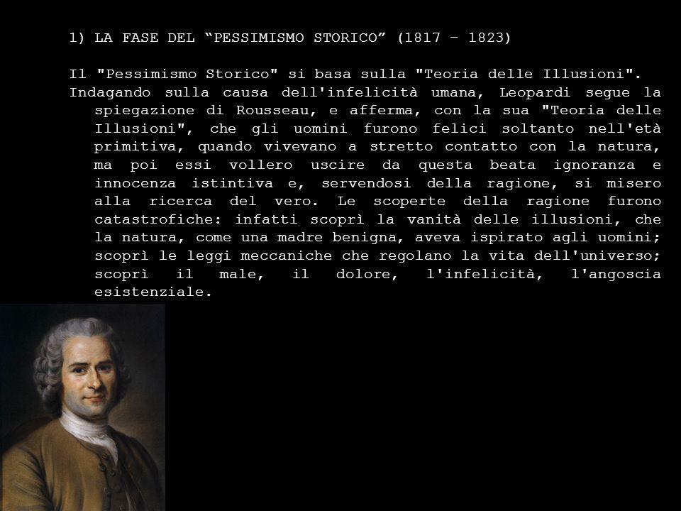 LA FASE DEL PESSIMISMO STORICO (1817 – 1823)